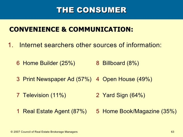 THE CONSUMER CONVENIENCE & COMMUNICATION: <ul><li>Internet searchers other sources of information: </li></ul>5  Home Book/...