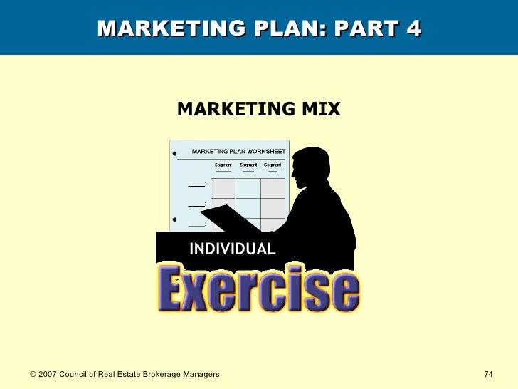 MARKETING PLAN: PART 4 MARKETING MIX INDIVIDUAL