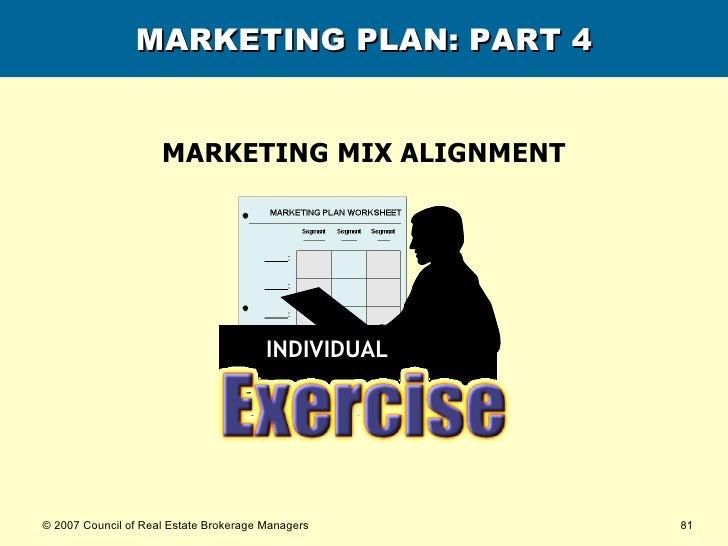 MARKETING PLAN: PART 4 MARKETING MIX ALIGNMENT INDIVIDUAL