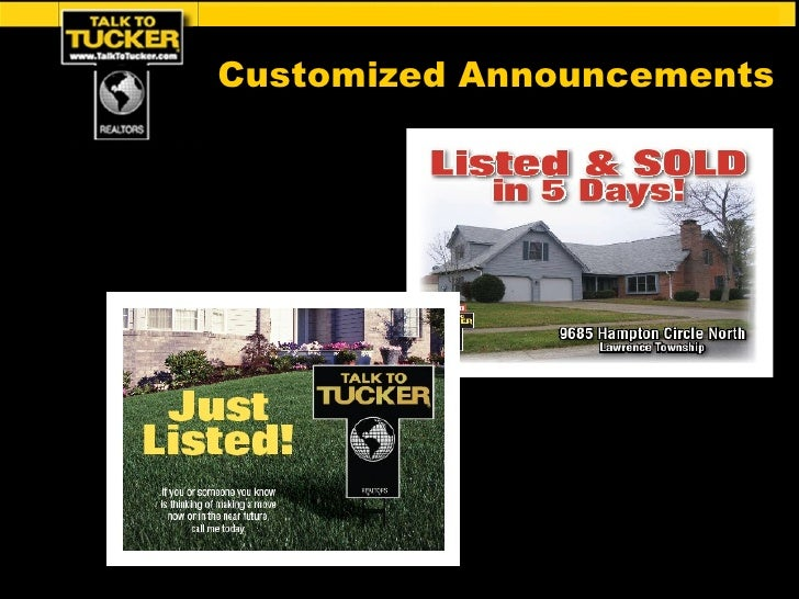 Customized Announcements