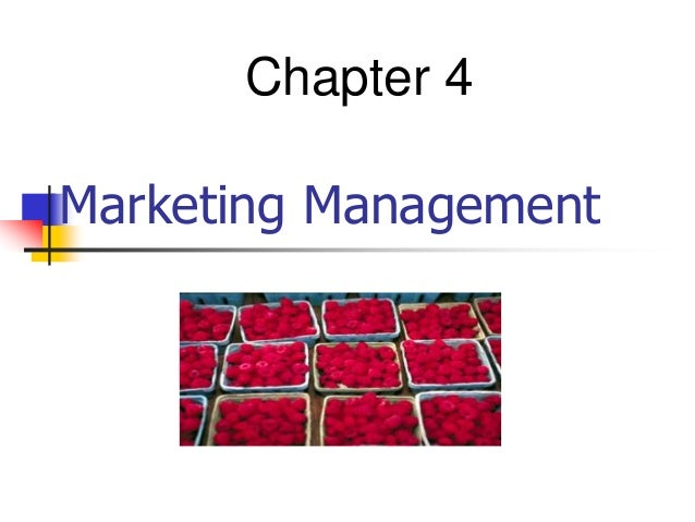 Marketing Management Chapter 4
