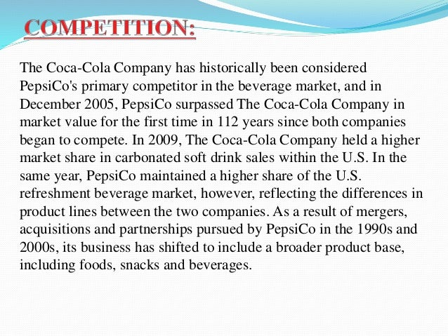 Difference between Coca Cola and Pepsi