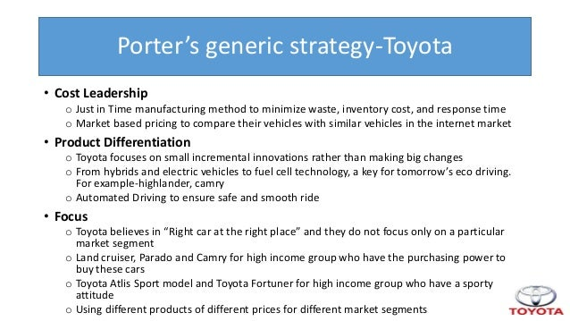 Toyota's Generic Strategy & Intensive Growth Strategies