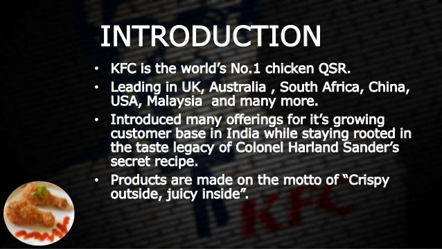 The Objective Of Kfc Business Essay