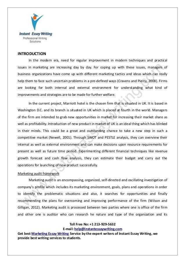 best marketing essay