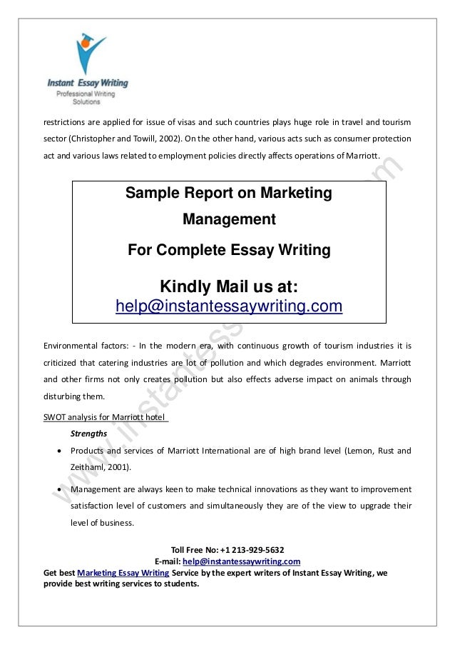 marketing management for the service industry marketing essay If you need a custom term paper on marketing: total quality management,  industry consists of everything  all help with customer service dream essay is.