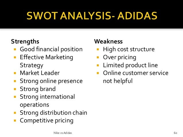 adidas differentiation leadership