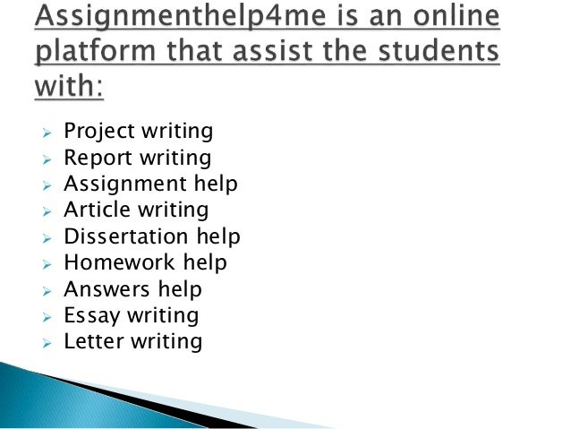 Writing assignment help gumtree perth