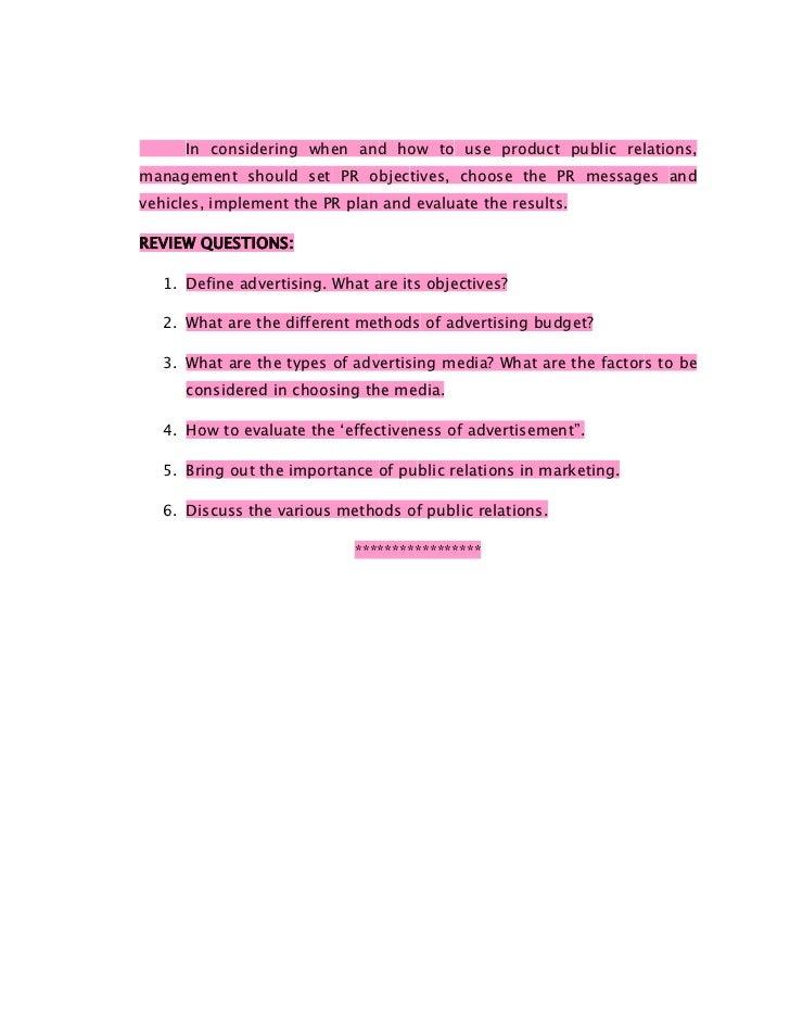 Marketing management full notes @ mba