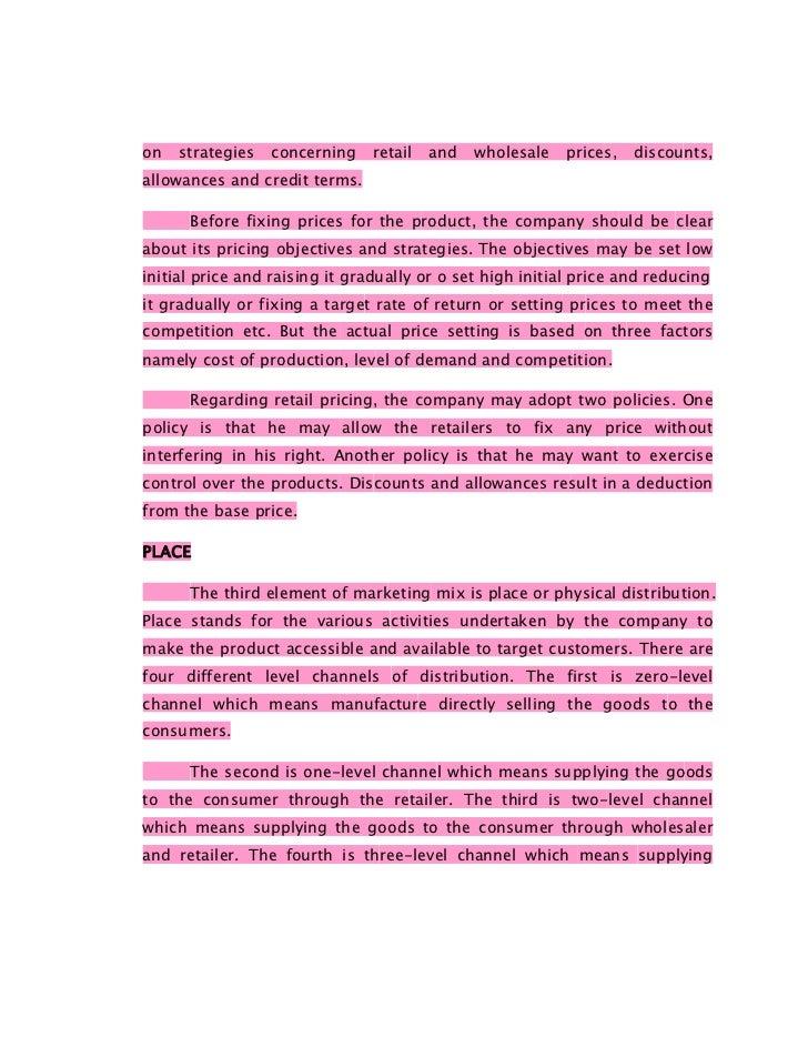 marketing management full notes pdf