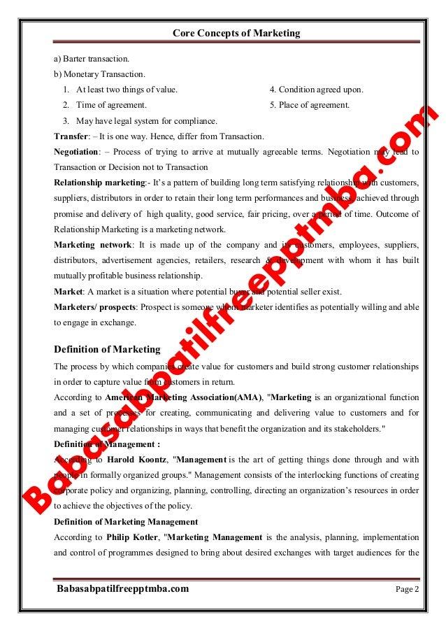 Marketing management module 1 core concepts of marketing  mba 1st sem by babasab patil (karrisatte) Slide 2