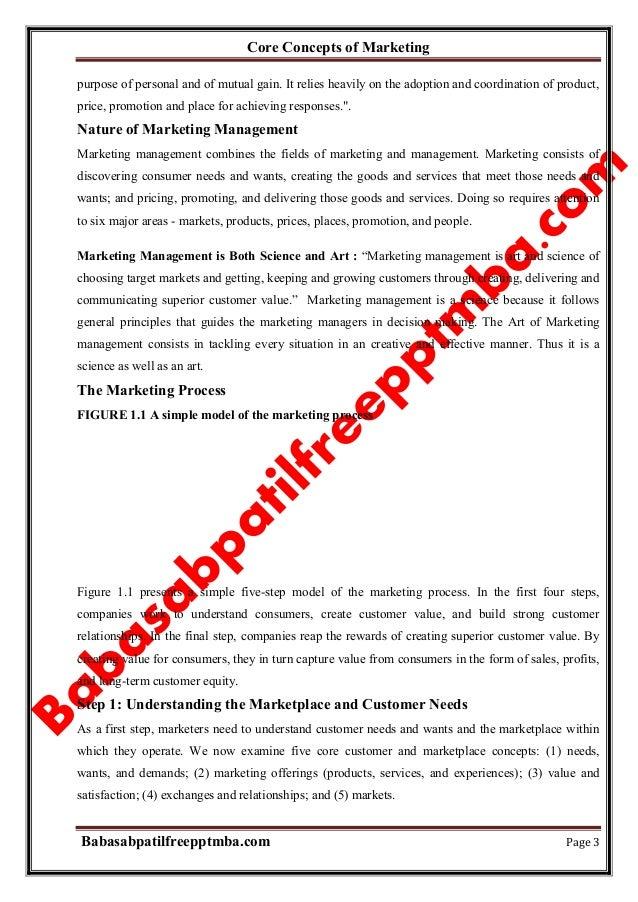 Marketing management module 1 core concepts of marketing  mba 1st sem by babasab patil (karrisatte) Slide 3
