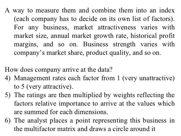 <ul><li>A way to measure them and combine them into an index (each company has to decide on its own list of factors). For ...