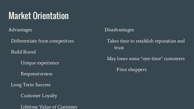 what is market orientation examples