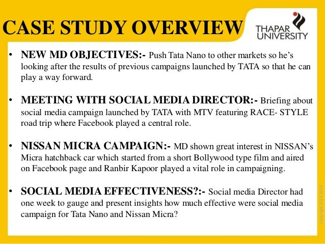 marketing case study on tata nano Online survey diffusion innovation models conclusion acknowledgement  bibliography 2  tata nano, cool & smart, launched by tata motors is world's  cheapest car with a  for marketing strategy tata had use conventional media  in an.