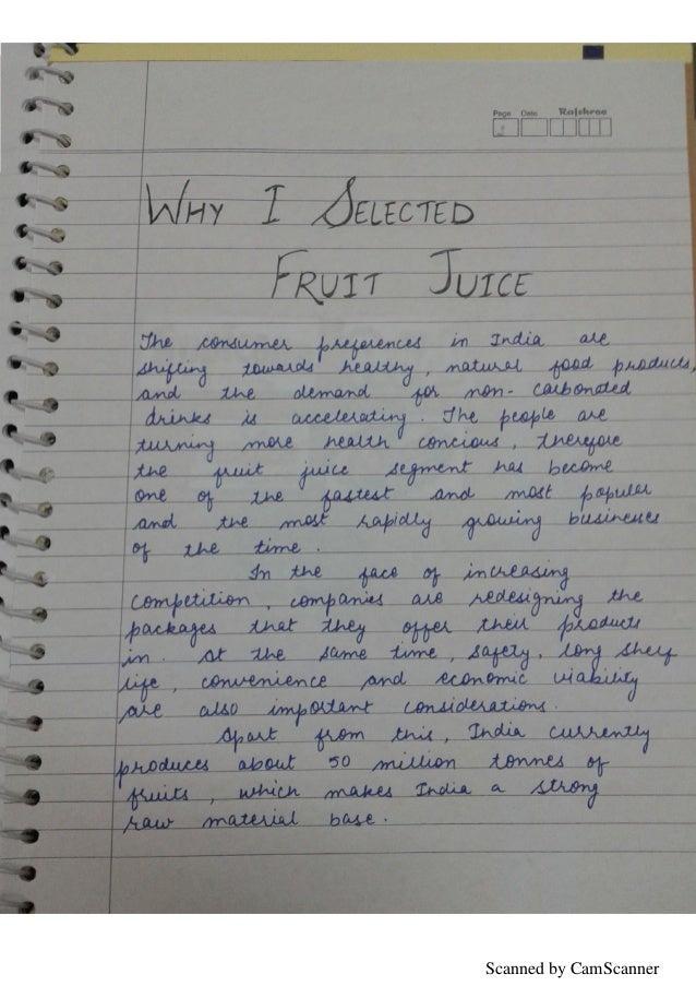 Business Studies Class 12th Marketing management Project- Fruit Juice