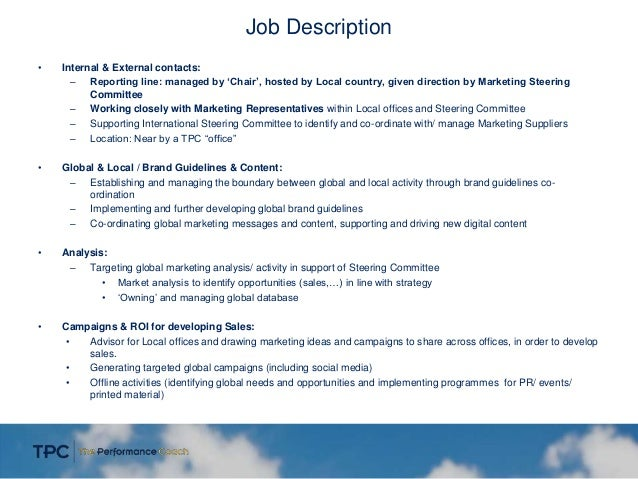 global marketing manager 3 job description international marketing director job description - International Marketing Manager