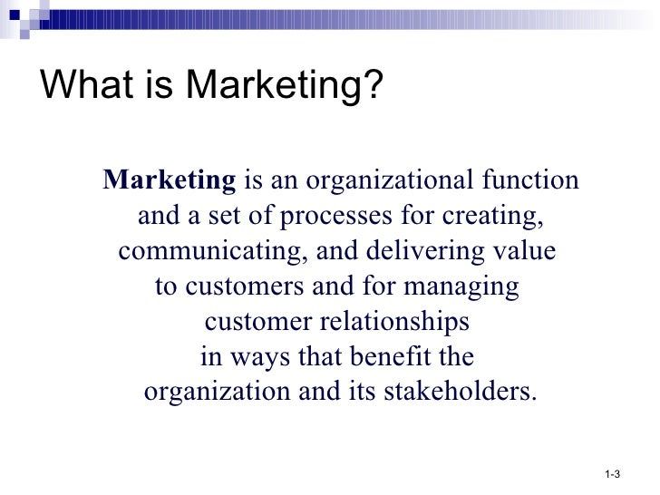 marketing managment Marketing management is the directing of an organization's resources to develop  and implement the best possible strategy in order to reach its desired.