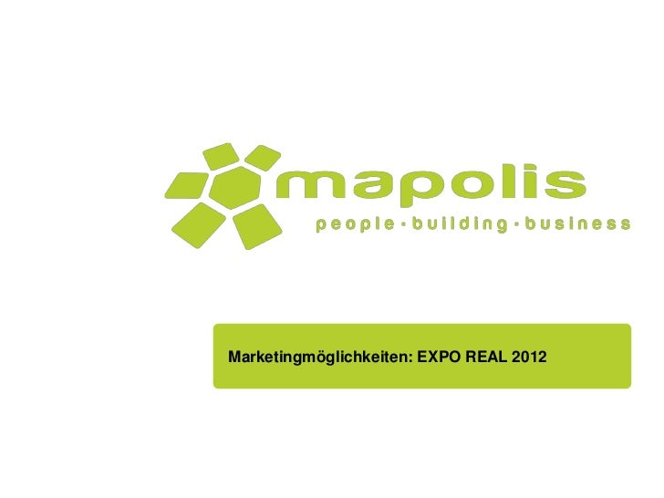 Marketingmöglichkeiten: EXPO REAL 2012