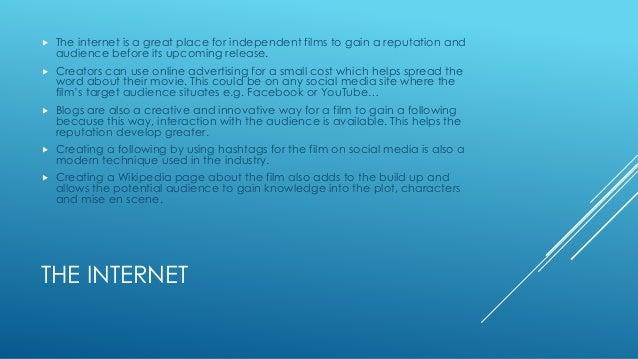 Marketing materials for a independent film Slide 2