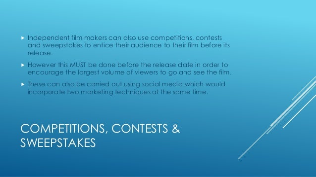 Marketing materials for a independent film Slide 3