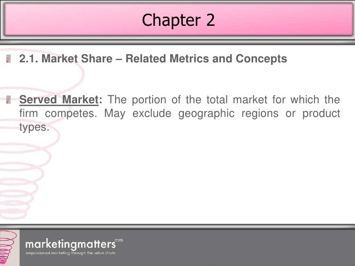 marketing and small relative market How to increase market share, reasons to increase market share, and reasons   the firm's performance relative to competitors can be measured by the  that  market share can be increased by changing the variables of the marketing mix   a small niche player may be tolerated if it captures only a small share of the  market.