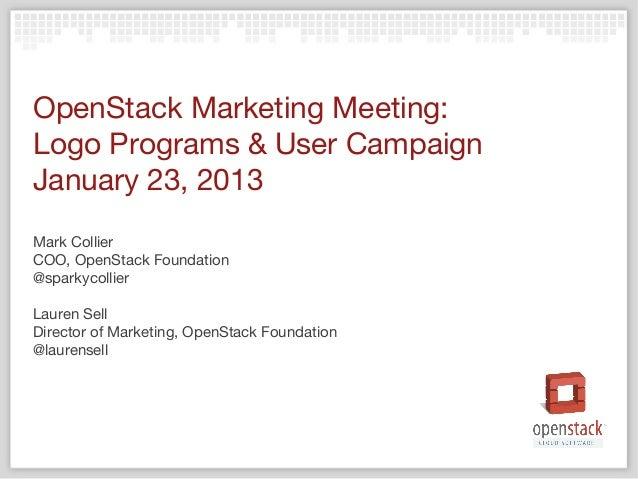 OpenStack Logo Programs & User Campaign Slide 2