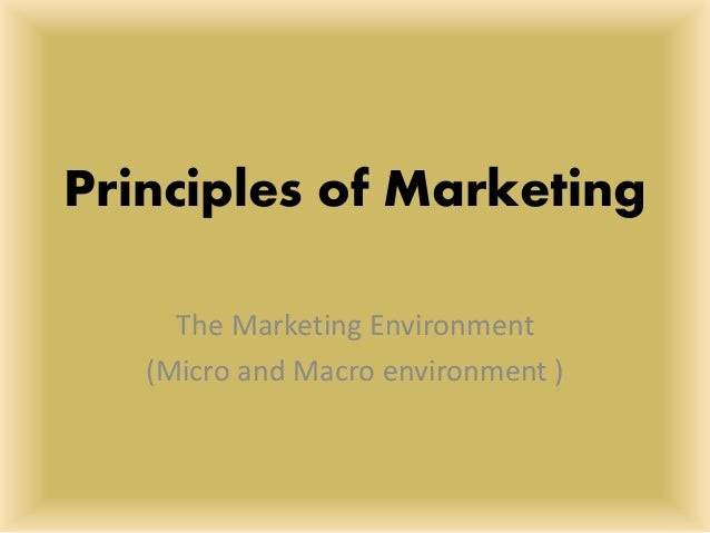 micro and macro environment of pleasure There are two kinds of external marketing environments micro and macro these  environments' factors are beyond the control of marketers but.