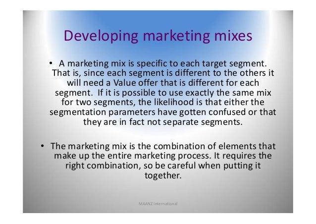 Four Elements of a Market Segment