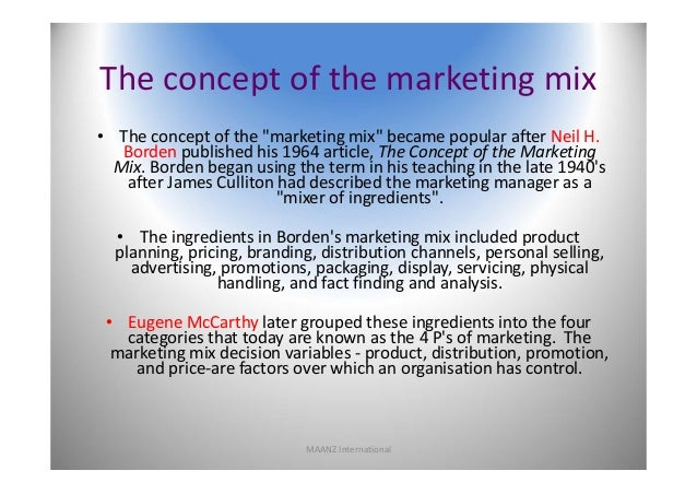 what are the four variables of the marketing mix why are these elements known as variables The extended marketing mix (7p's) is the combination of seven elements of   these 7 elements are: product price place promotion people process and  physical  it is called a marketing mix because each element of the marketing  mix is related  traditionally the marketing mix has been taken to comprise four  elements:.