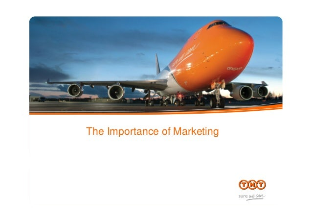 The Importance of Marketing subtitle