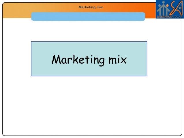 Economía 2.º Bachillerato  Marketing mix La función productiva  Marketing mix