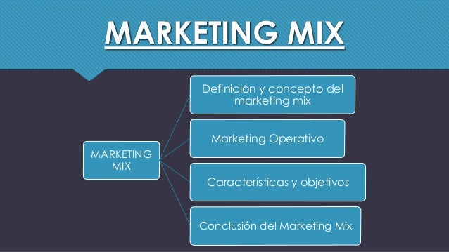 marketing mix conclusion Addis ababa university college of management information and economic  science department of management managing the marketing mix.
