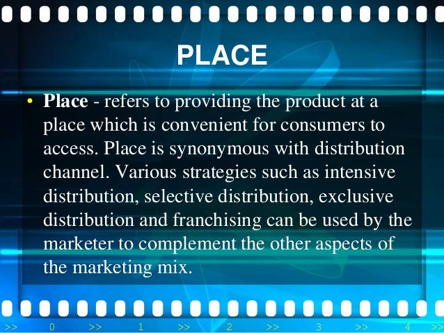 Marketing mix place copy