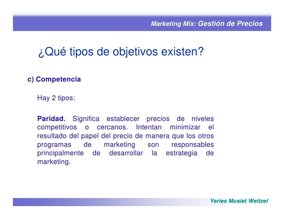 Marketing mix precio parte 1 for Precio de puertas tipo cantina