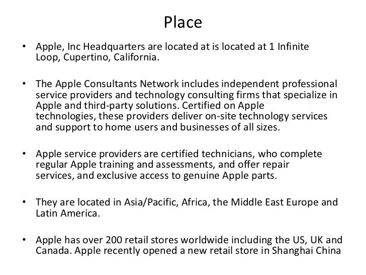 Marketing Mix Of Apple