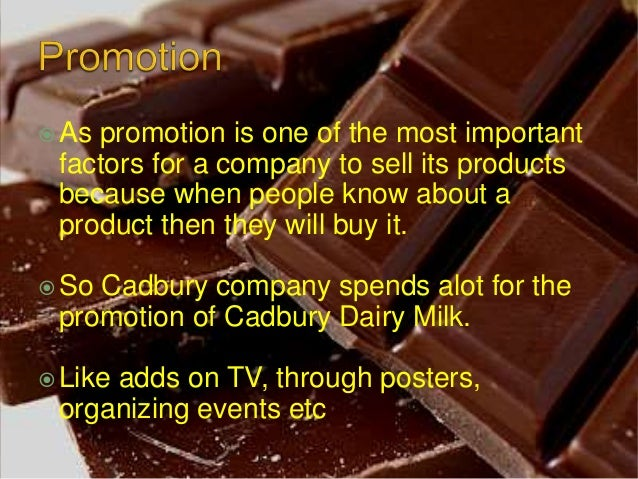 cadbury marketing mix Marketing mix my marketing mix i am now going to create a marketing mix for my chosen product using the 4 p's, product, place, price and promotion product the product i will be re-launching is the cadburys double decker bar with less calories than a traditional bar.