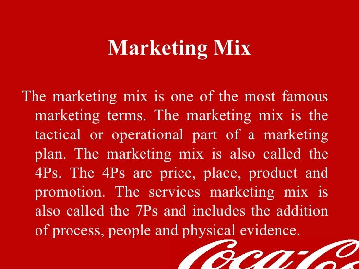 project on marketing mix of coca-cola