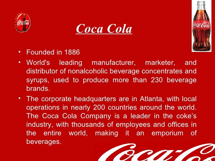 coca cola marketing report