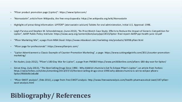 Marketing Mix, PLC, SWOT Analysis - LIPITOR