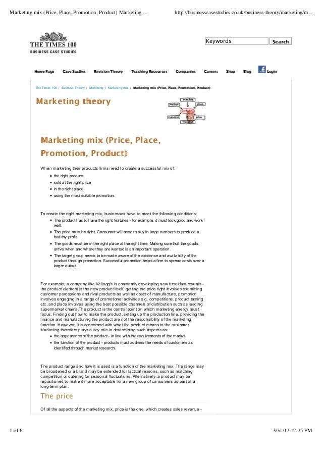 marketing mix case study examples