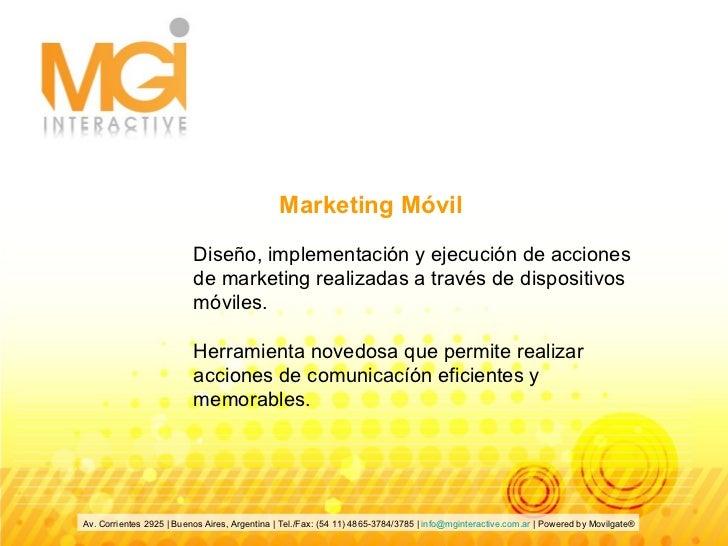 Diseño, implementación y ejecución de acciones de marketing realizadas a través de dispositivos móviles. Herramienta noved...