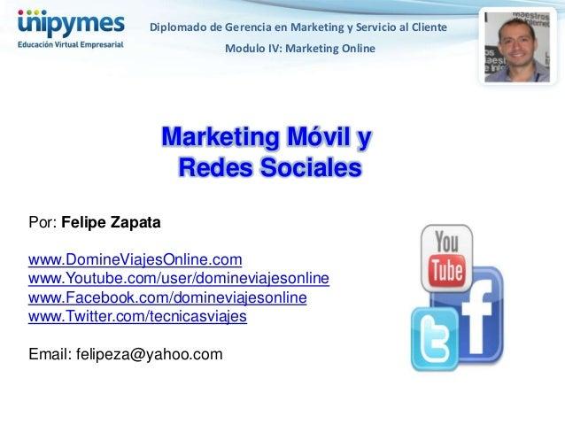 Diplomado de Gerencia en Marketing y Servicio al Cliente                              Modulo IV: Marketing Online         ...