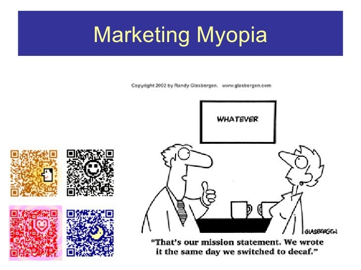 marketing myopia reading notes Read this essay on marketing is everything by regis mckenna - reading notes marketing myopia-mistake of paying more attention to the specific product as co.