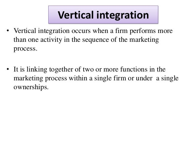 vertical integration and the effect on We found that an increase in contractual integration reduced the frequency of hospital admissions, but this effect was relatively small taken together, our results provide a mixed, although somewhat negative, picture of vertical integration from the perspective of the privately insured.