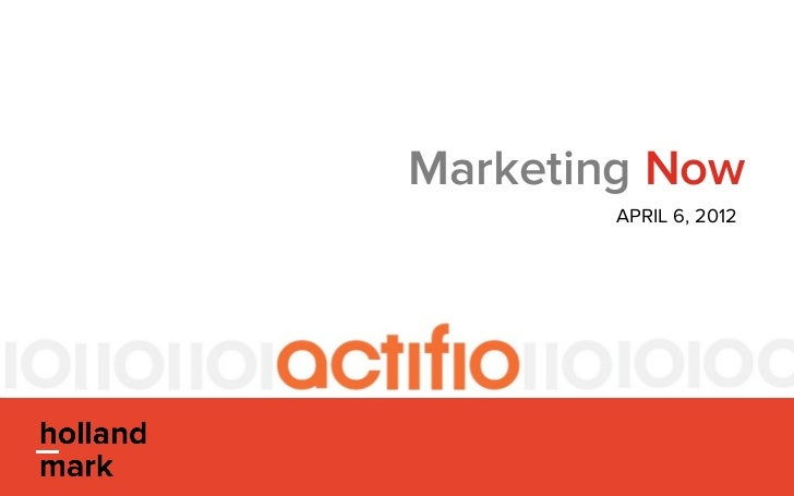 Marketing Now                  APRIL 6, 2012      ©2012 HOLLAND-MARK. ALL RIGHTS RESERVED.