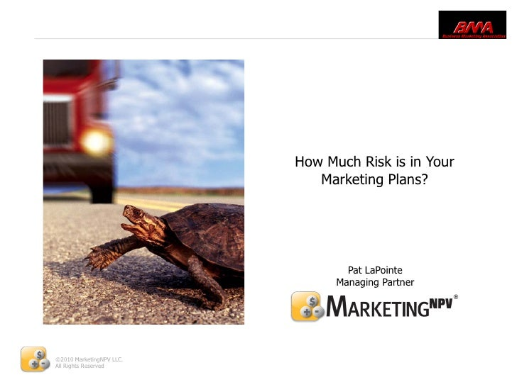 How Much Risk is in Your                              Marketing Plans?                                       Pat LaPointe ...