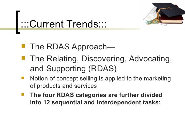 :::Current Trends::: <ul><li>The RDAS Approach— </li></ul><ul><li>The Relating, Discovering, Advocating, and Supporting (R...