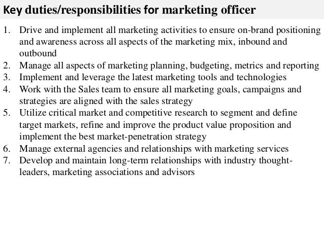 Marketing Officer Job Description Marketing Assistant Resume Job – Marketing Job Description