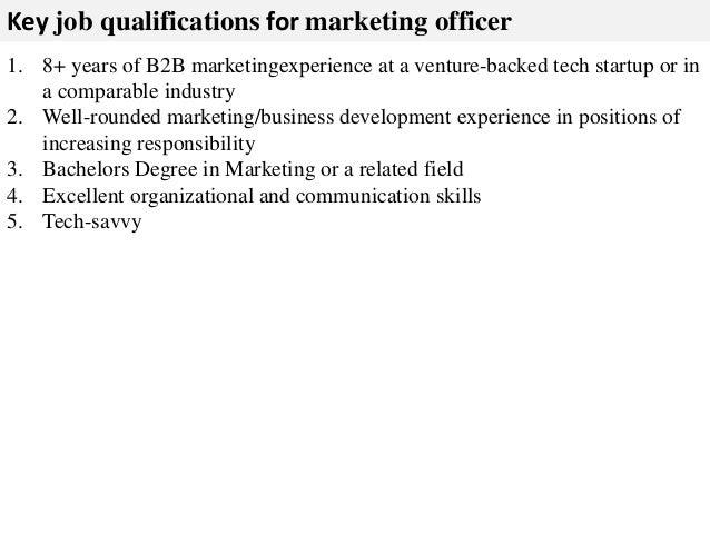 Marketing officer job description – Marketing Officer Job Description